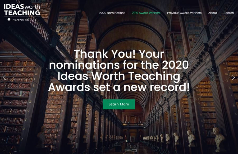 Now Closed: 2020 Ideas Worth Teaching Nominations