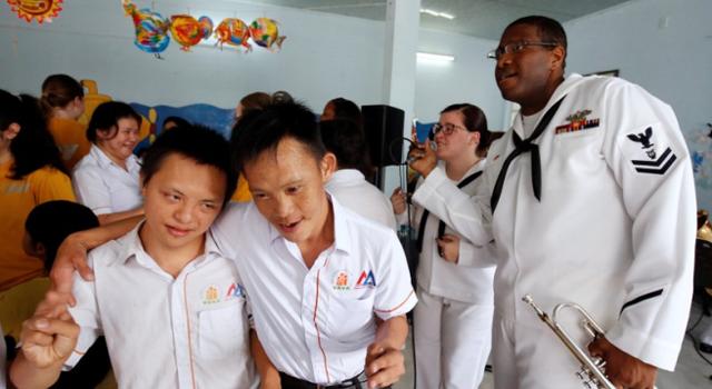 U.S. sailors visit victims of Agent Orange