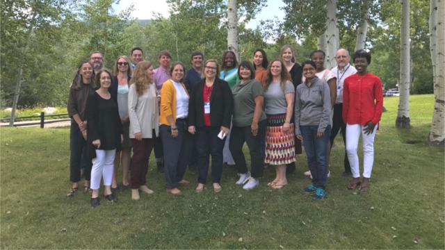 The 2018-19 Job Quality Fellows meet in Aspen in August 2019.