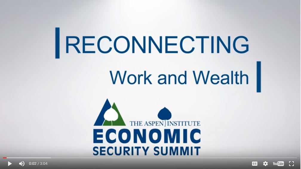Reconnecting Work and Wealth