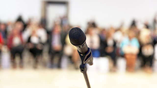 Microphone and audience