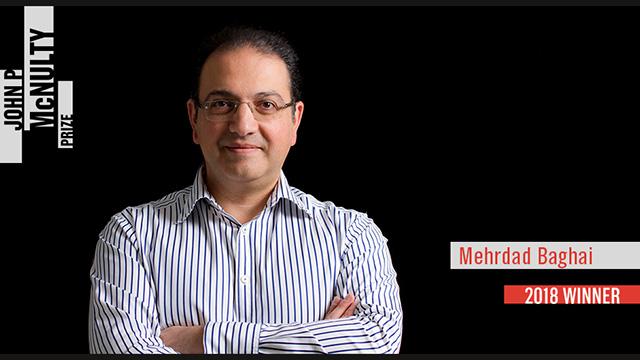 Mehrdad Baghai Wins the 2018 McNulty Prize