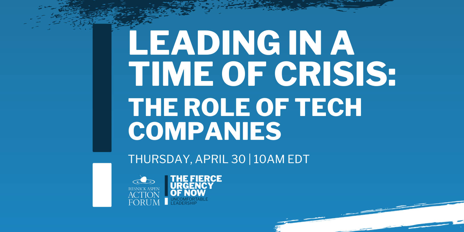 Leading in a Time of Crisis: The Role of Tech Companies