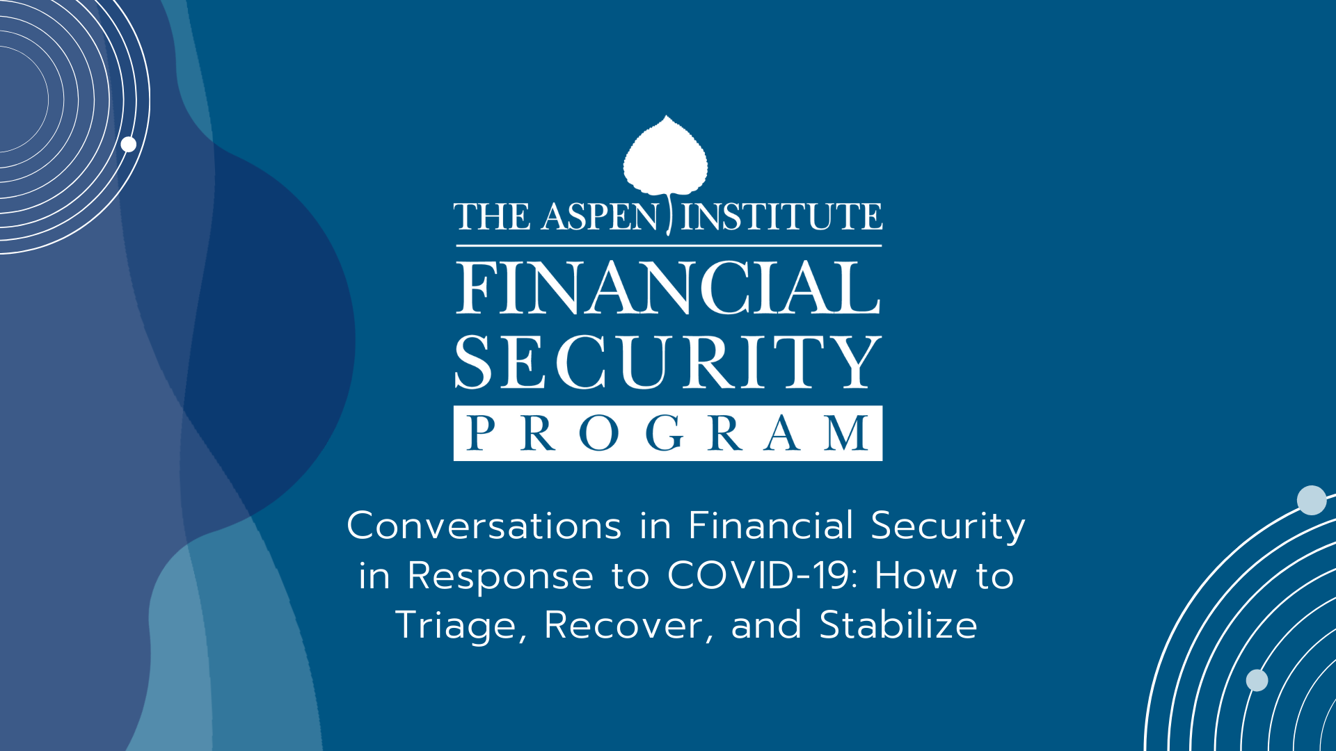 Conversations in Financial Security in Response to COVID-19