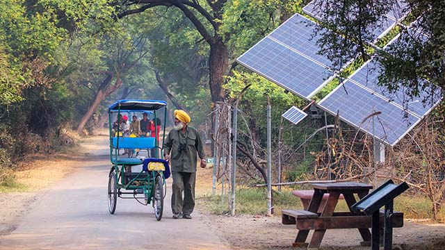 Solar energy panels in India