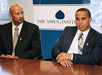 WATCH: College Athlete Union Reps Kain Colter and Ramogi Huma at the Aspen Institute